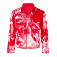 424 tie-dye denim jacket - Red