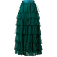 Forte Forte tiered tulle skirt - Green