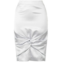 We11done twisted knot pencil skirt - Metallic