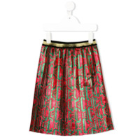 Gucci Kids pleated skirt - Red