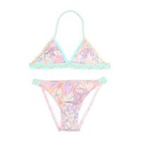 Little Marc Jacobs iridescent braided bikini set - Pink