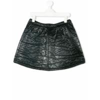 Andorine textured patent mini skirt - Black