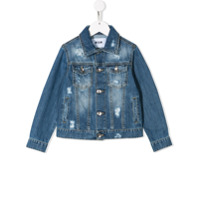 Msgm Kids distressed denim jacket - Blue