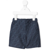 Fendi Kids FF logo trousers - Blue