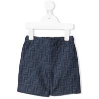 Fendi Kids FF logo trousers - Blue