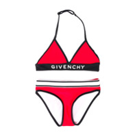 Givenchy Kids logo band bikini - Red