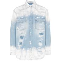 Faith Connexion slash paint print denim jacket - Blue
