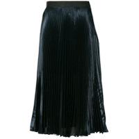 Christopher Kane lam pleated skirt - Blue