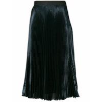 Christopher Kane lamé pleated skirt - Blue