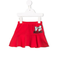 Moschino Kids logo print skirt - Red