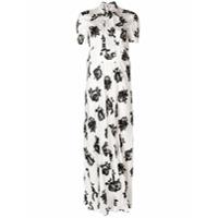 Miu Miu long floral jacquard dress - Neutrals
