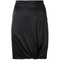 Giorgio Armani Vintage gathered detail fitted skirt - Black