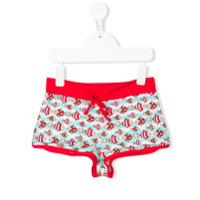 Mc2 Saint Barth fish print swim shorts - Red