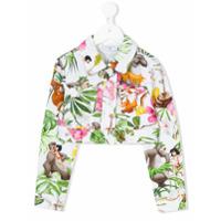 Monnalisa cropped floral jacket - Multicolour