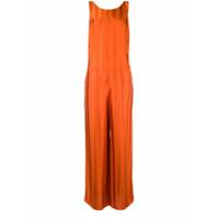 Golden Goose Deluxe Brand contrasting stripped jumpsuit - Orange