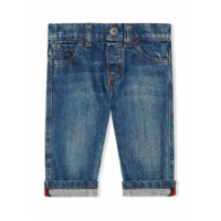 Gucci Kids Baby washed denim jeans - Blue