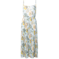 Vince floral pleated dress - Blue