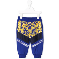 Young Versace baroque pattern leggins - Blue