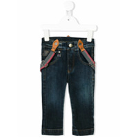 Lapin House stonewashed jeans with braces - Blue