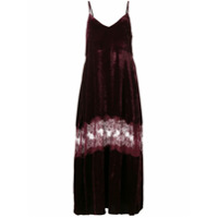 Stella McCartney lace panel slip dress - Red