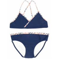 Burberry Kids TEEN two piece bikini - Blue