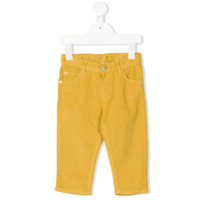 Knot corduroy trousers - Yellow