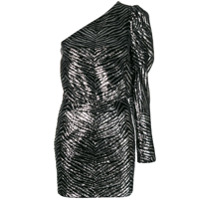 Alexandre Vauthier zebra embossed mini dress - Silver
