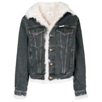 Forte Dei Marmi Couture shearling-lined denim jacket - Black