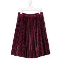 Philosophy Di Lorenzo Serafini Kids TEEN lam pleated skirt - Black