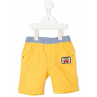 Miki House patch detail trousers - Yellow