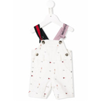 Lapin House flag printed dungarees - White