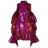 Halpern sequin embellished off the shoulder mini dress - Pink