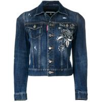 Dsquared2 embellished denim jacket - Blue