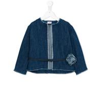Il Gufo belted denim jacket - Blue