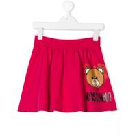 Moschino Kids TEEN teddy bear print skirt - Pink