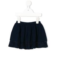 Cashmirino crochet trim skirt - Blue