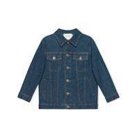 Gucci Kids Children's denim jacket with Gucci logo - Blue