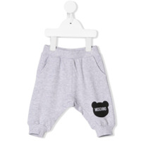 Moschino Kids toy silhouette print joggers - Grey