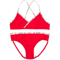 Burberry Kids TEEN two-piece bikini - Red