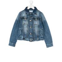 Msgm Kids flap pockets denim jacket - Blue