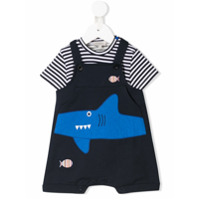 Paul Smith Junior whale dungaree set - Blue