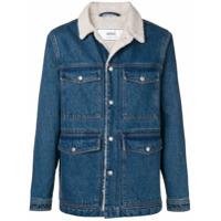 Ami Alexandre Mattiussi Sherpa Lining Denim Jacket - Blue