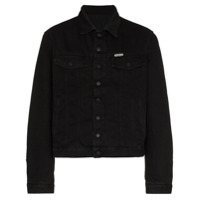 Off-White Logo printed cotton denim jacket - Black