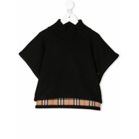 Burberry Kids reversible check poncho - Black