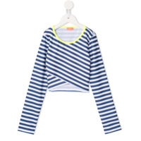 Sunuva striped wrapover rash top - Blue