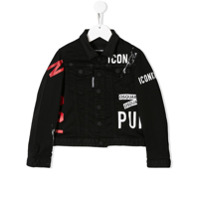 Dsquared2 Kids printed denim shirt jacket - Black