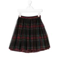 Dolce & Gabbana Kids tartan tulle skirt - Blue