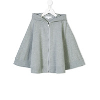 Burberry Kids zipped hooded cape - Grey