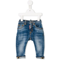 Dsquared2 Kids stonewashed jeans - Blue