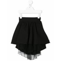 Nostra Santissima Kids asymmetric tutu skirt - Black